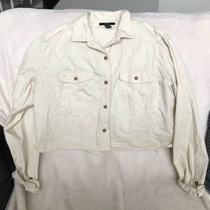 Cream button up long sleeve. Barely worn